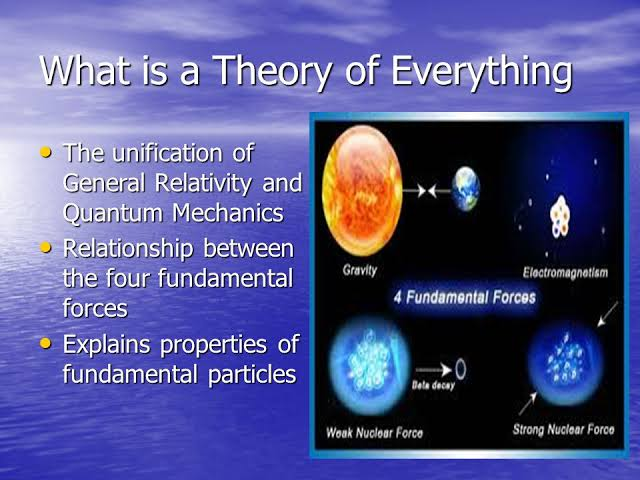 Theory of everything review, need, efforts and progress.