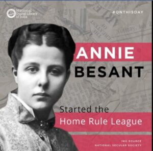 Annie Bessant Home Rule League ( Image: National Digital Library of India)