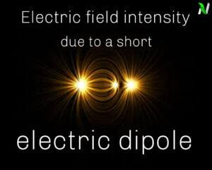 Derivations of electric field intensity due to a short electric dipole at any point P |