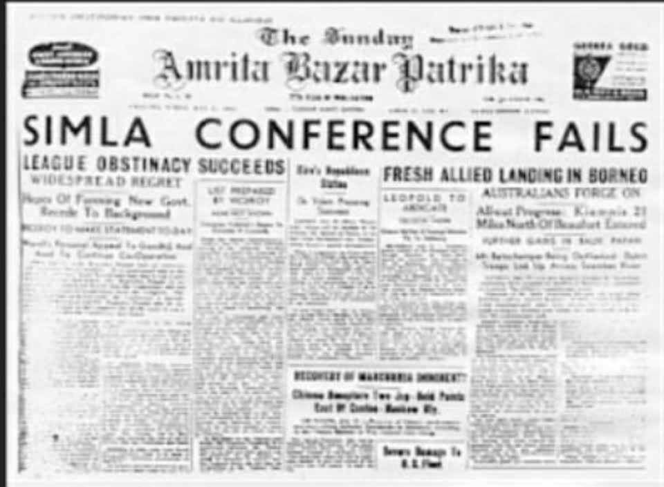 Shimla Conference and Wavell's Plan failed.