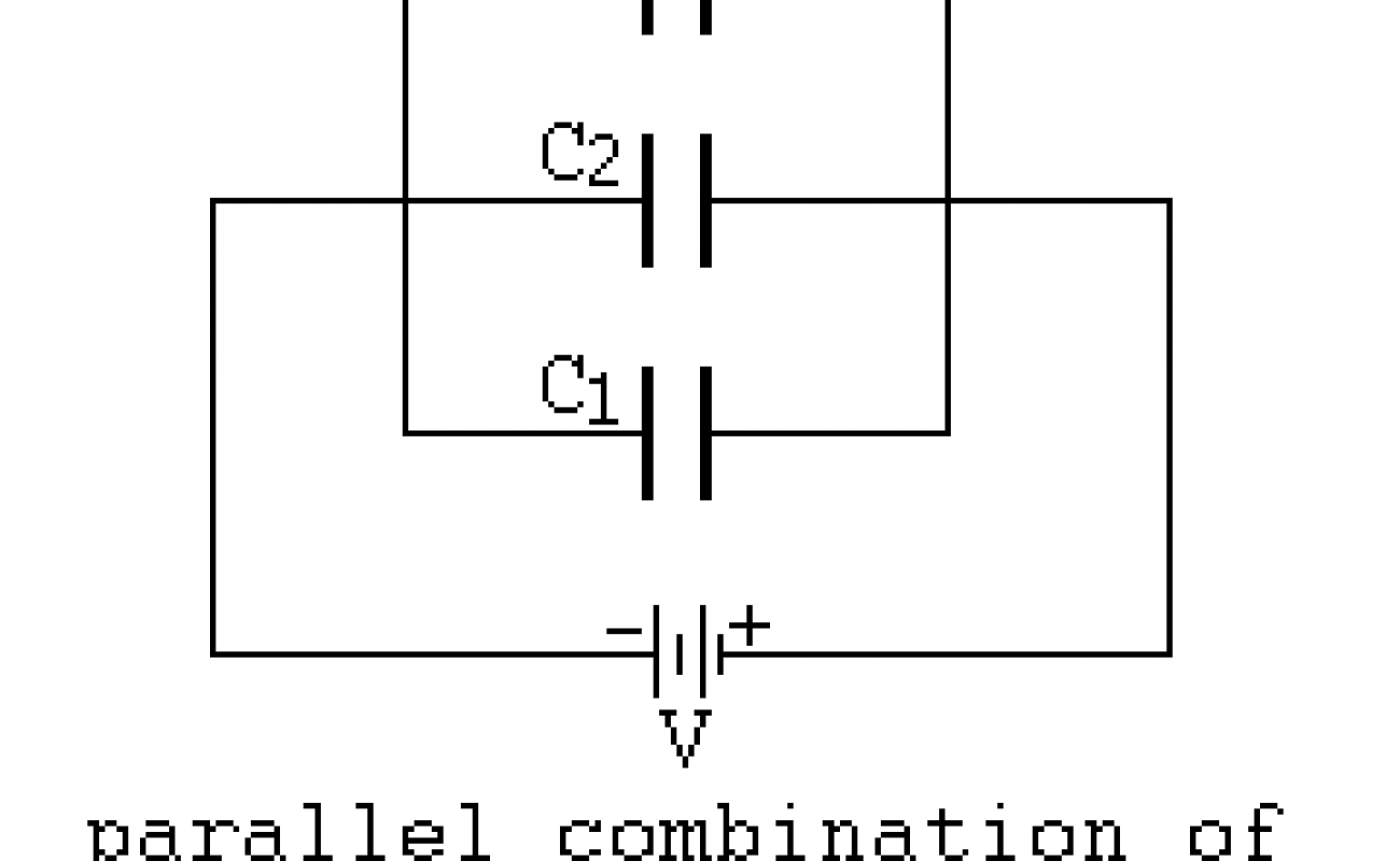 Combination of capacitors in series and parallel class 12