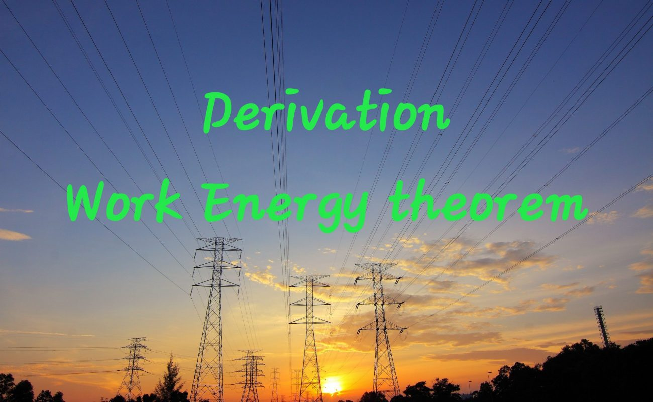 Derivation of work energy theorem class 11 | 2 cases rotational and translational